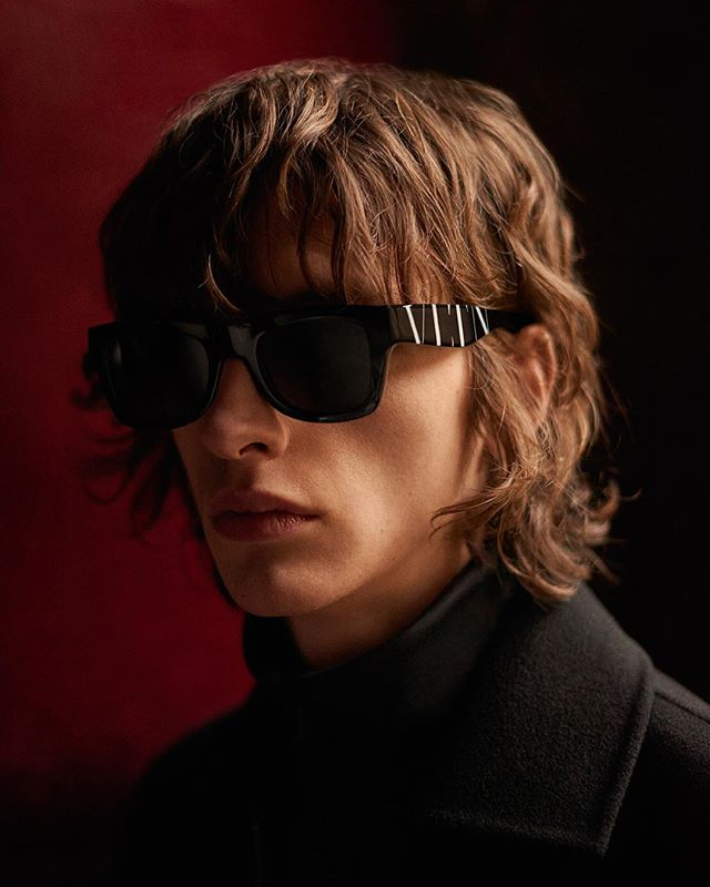 Benno (@bennobulang) for Valentino Eyewear AW18. Photography by Paolo Di Lucente, hair by Alessandro Rebecchi and make-up by Arianna Campa.