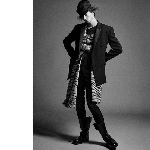 Alexander C (@alexandercareymorgan) for Fantastic Man. Photography by Karim Sadli, styling by Max Pearmain, hair by Damien Boissinot and casting by Noah Shelley.