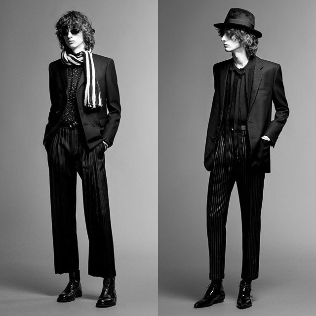 Benno (@bennobulang) for Saint Laurent Pre-Fall 2019. Photography by Rory van Millingen, styling by Alastair McKimm, hair by Pawel Solis, makeup by Satoko Watanabe and casting by Samuel Ellis Scheinman.