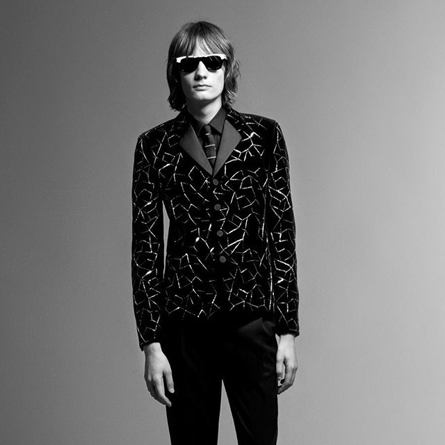 Maximilian B for Saint Laurent Pre-Fall 2019. Photography by Rory van Millingen, styling by Alastair McKimm, hair by Pawel Solis, makeup by Satoko Watanabe and casting by Samuel Ellis Scheinman.