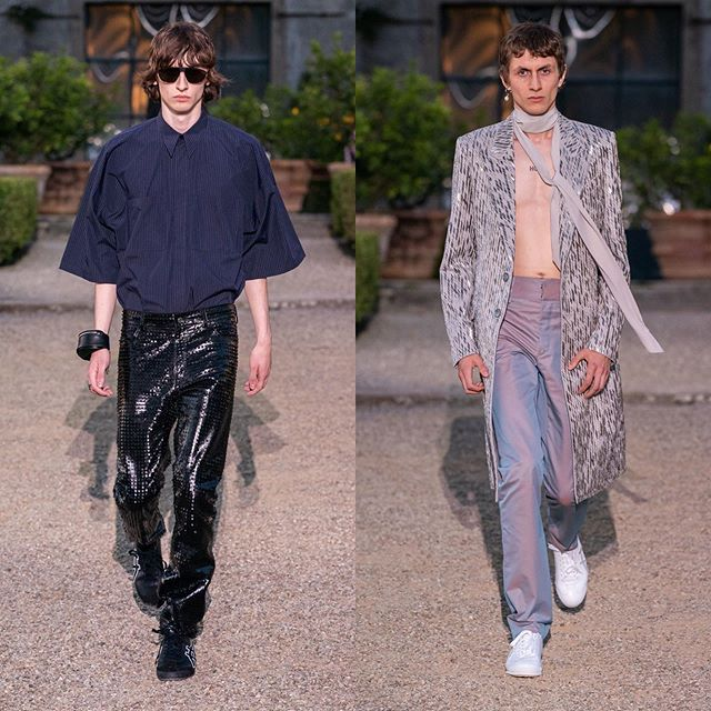 Benno (@bennobulang) and Henry (@henrykitcher) (closed) for Givenchy SS20. Styling by Mel Ottenberg, hair by Paul Hanlon, makeup by Lynsey Alexander and casting by Piergiorgio Del Moro.