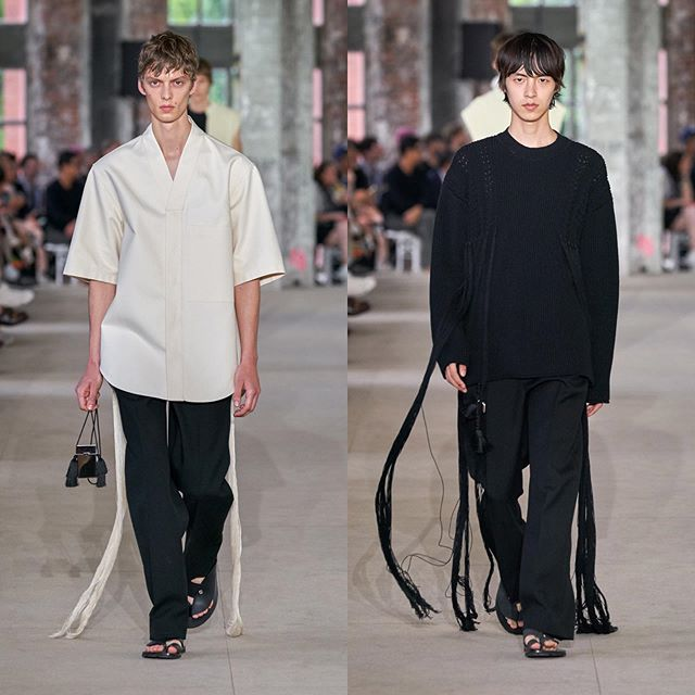 Leon D (@leondame) and Na (@na.aaaaaaaa) for Jil Sander SS20. Styling by Sarah Richardson, hair by Eugene Souleiman, makeup by Lucy Bridge and casting by Henry Thomas.