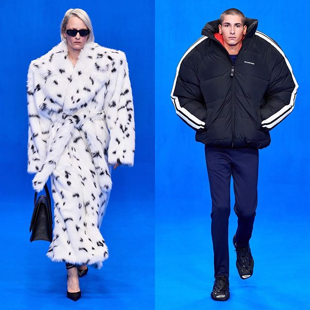 Stephanie (@svainly) and Teo S (@teosanabria) for Balenciaga SS20. Hair by Holli Smith and Gary Gill and makeup by Inge Grognard. Thank you @demnagvasalia and @mrt4000.