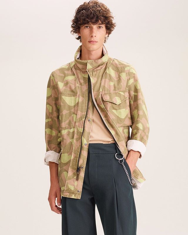 Anton J (@antonjaeger) for Yves Salomon's Army Spring/Summer 2020 lookbook. Photography by Amit Israeli, styling by Pau Avia, hair by Ramona Eschbach, makeup by Anthony Preel and casting by Shaun Beyen.