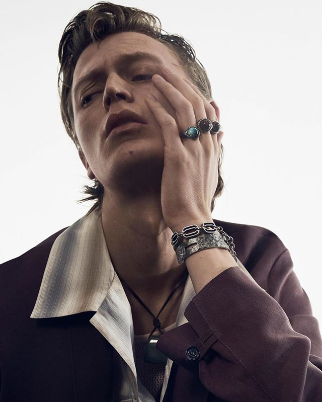 Jonas (@jonasgloeer) for Zara's Spring/Summer 2020 campaign. Creative direction by Fabien Baron, photography by Craig McDean, styling by Karl Templer, hair by Eugene Souleiman, makeup by Susie Sobol and casting by Ashley Brokaw.