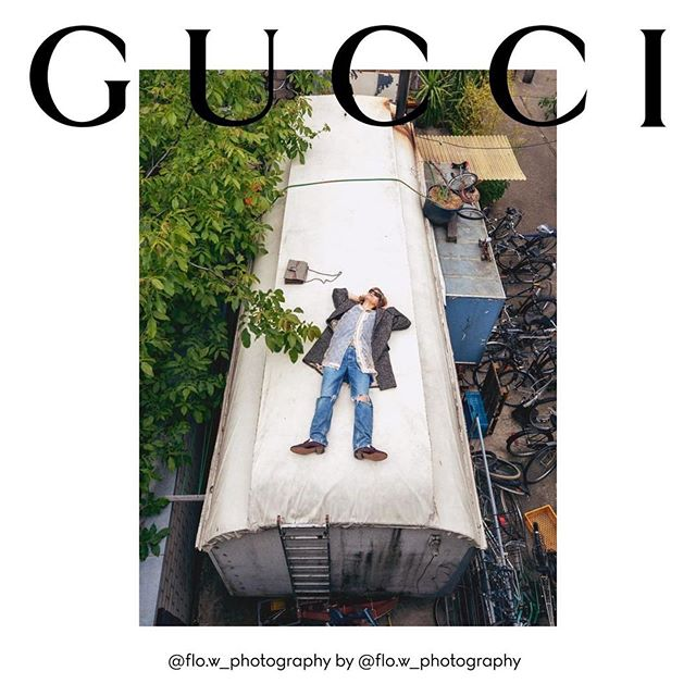 A first look at Gucci's upcoming Autumn/Winter 2020 campaign. Florian W (@flo.w_photography) shot by himself. Creative direction by Alessandro Michele, art direction by Christopher Simmonds, styling by Jonathan Kaye and casting by Marianna Rizzi.