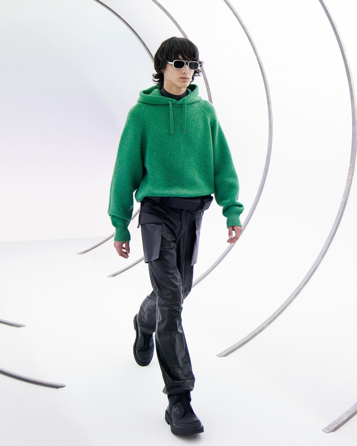 Dries for Salvatore Ferragamo FW21. Styling by Jodie Barnes, casting by DMcasting.