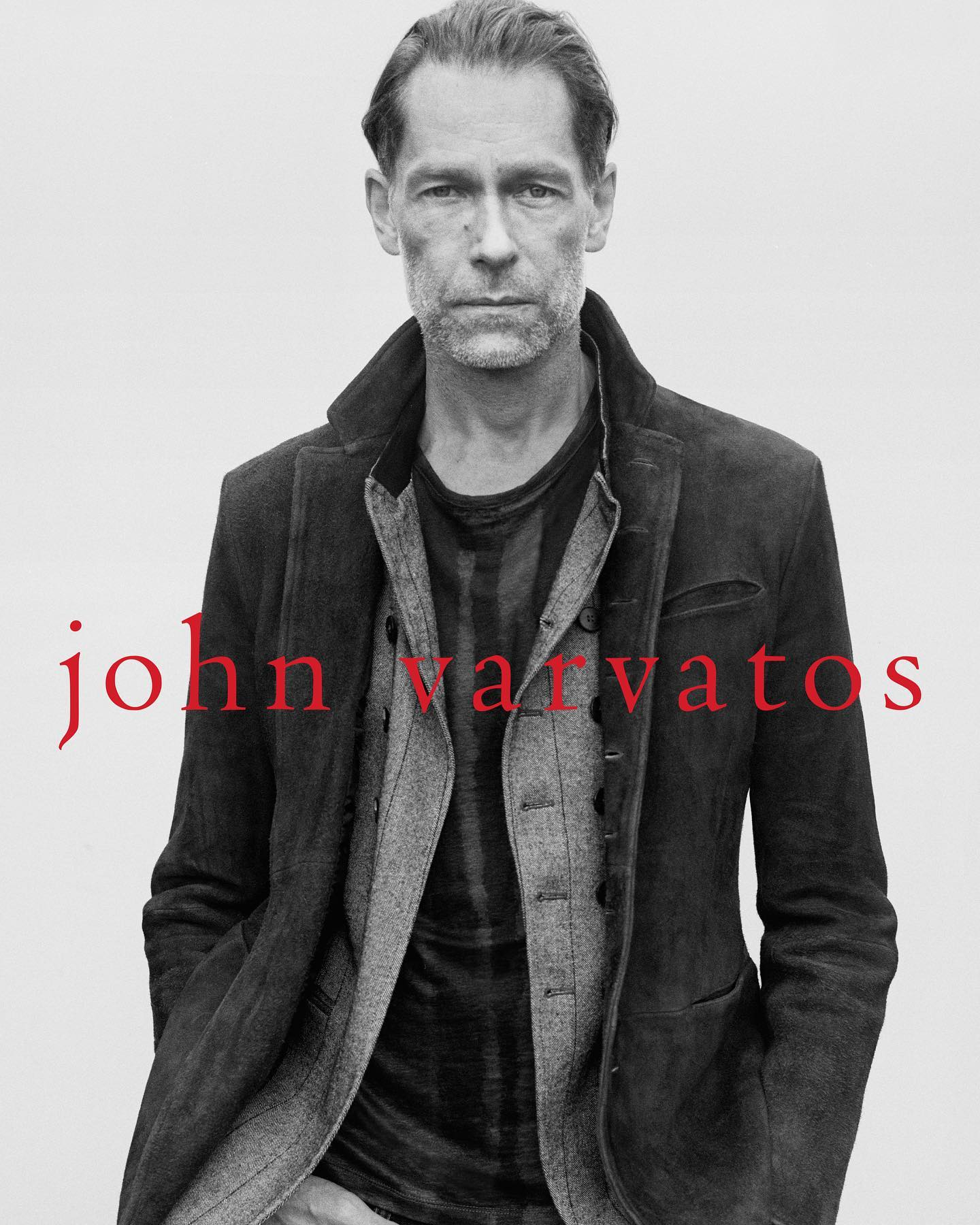 Ingo for John Varvatos SS21 collection shoot. Photography by Jamie Morgan, styling by Tom Guinness, grooming by Soichi Inagaki, creative direction by Will Beedle, art direction by Arthur Collin, casting by Calvin Wilson Establishment New York